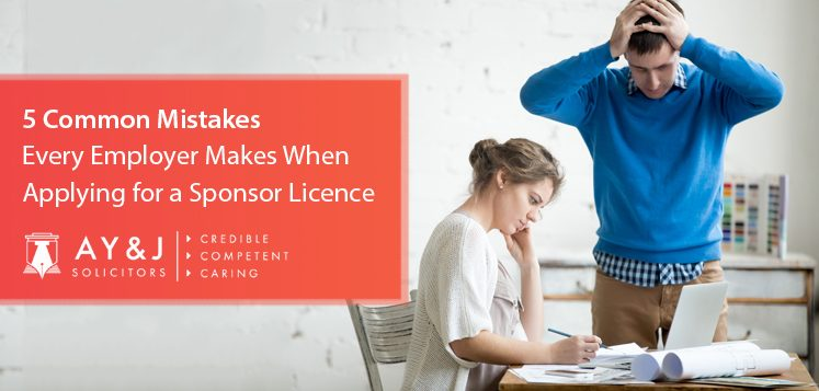 5 Common Mistakes Every Employer Makes When Applying for a Sponsor Licence