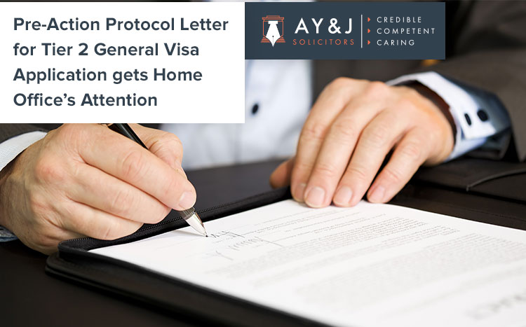 Pre-Action Protocol Letter on pending application
