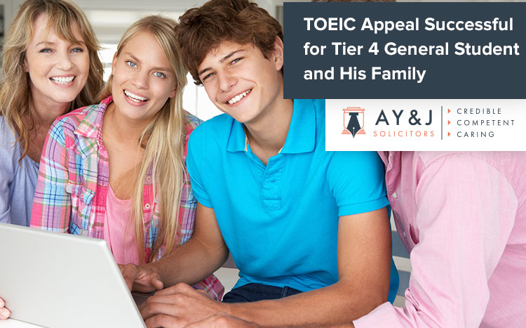 TOEIC Appeal Successful for Student