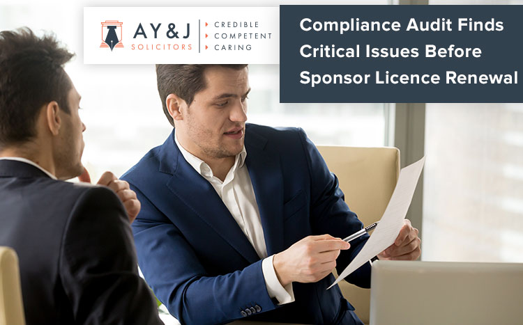 Compliance Audit Finds Critical Issues Before Sponsor Licence Renewal