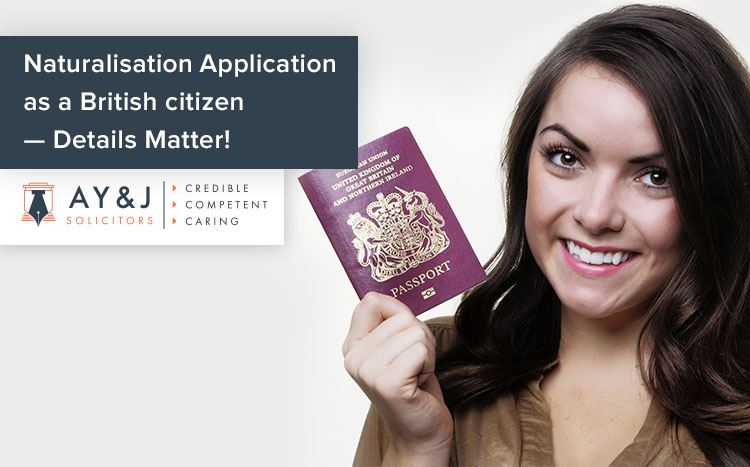Naturalisation Application as a British citizen