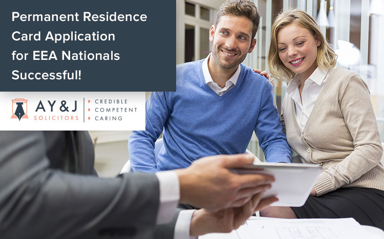 Permanent Residence Card Application for EEA Nationals Successful!