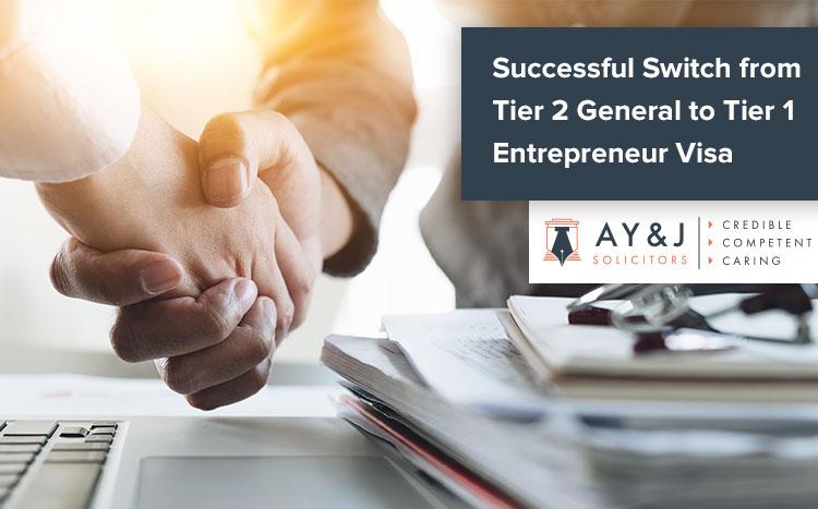 Tier 2 to Tier 1 Entpreneur Visa