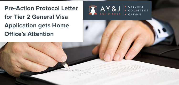 Pre Action Protocol Letter Before Claim to Home Office