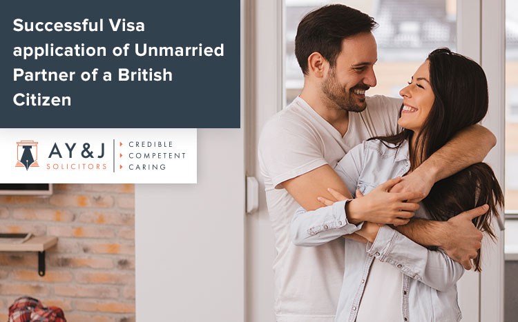 Successful Visa application of Unmarried Partner of a British Citizen