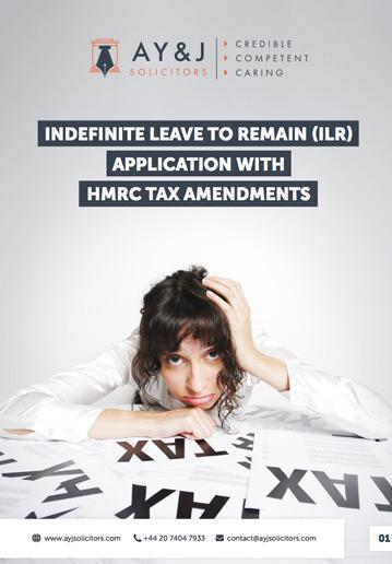 indefinite leave to remain ilr application with hmrc tax