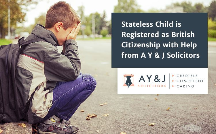 AYJ Stateless Child Registered as British MF