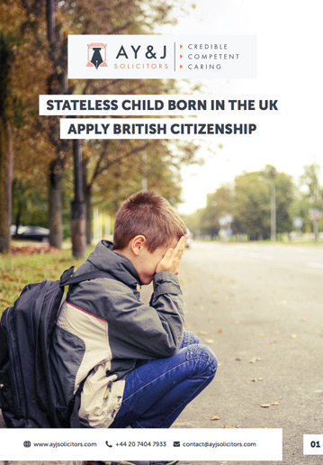 British Citizenship for Stateless Child