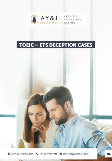 Deception Cases TOEIC-ETS