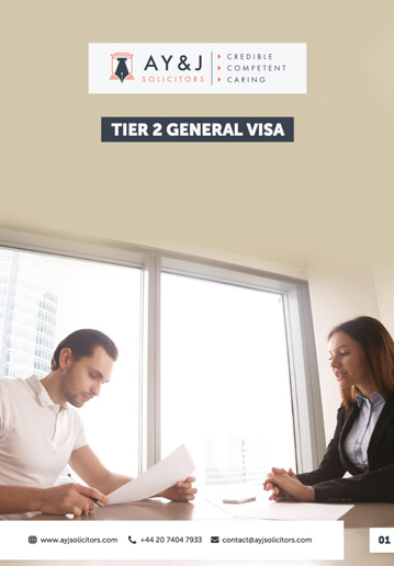 Tier 2 General and Tier 2 ICT Visas