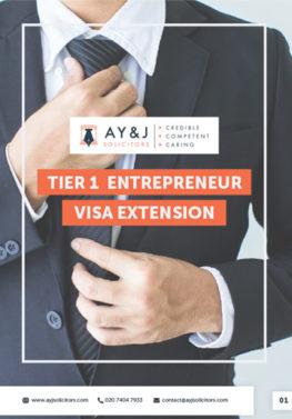 Tier 1 Entrepreneur Visa Extension Brochure