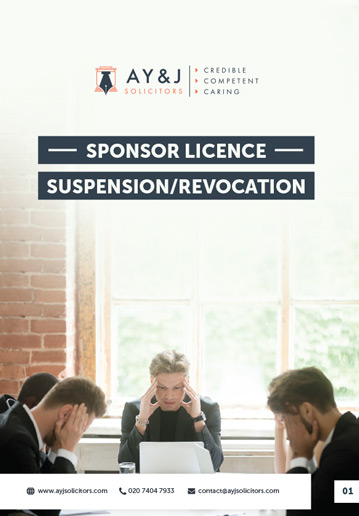 Sponsor Licence Suspension Revocation Brochure