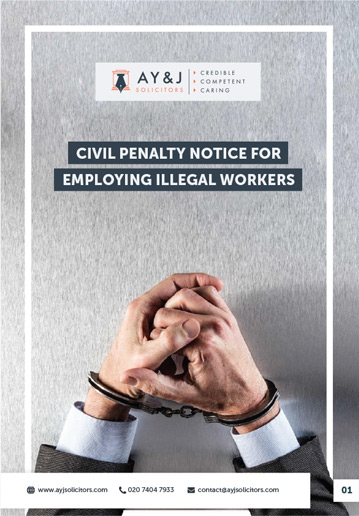 UKVI Civil Penalties Notice Brochure