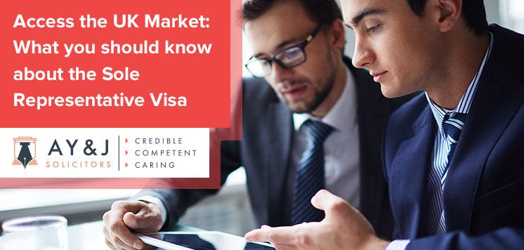 Access the UK Market: What you should know about the Sole Representative Visa